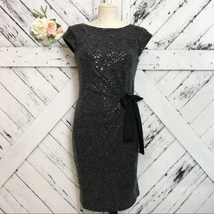 The Limited | Sequin Covered Little Gray Dress